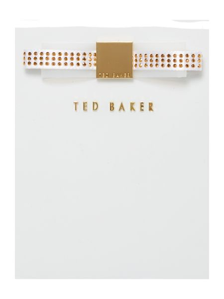 Ted Baker White ipad bow case