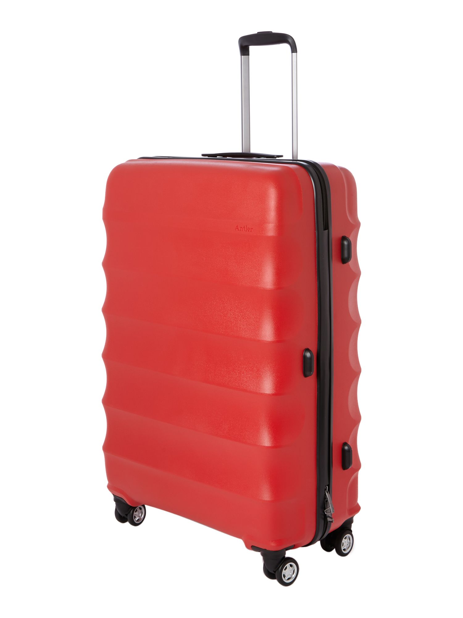 Juno 4 wheel red hard large rollercase