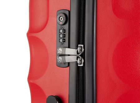Antler Juno 4 wheel red hard medium rollercase