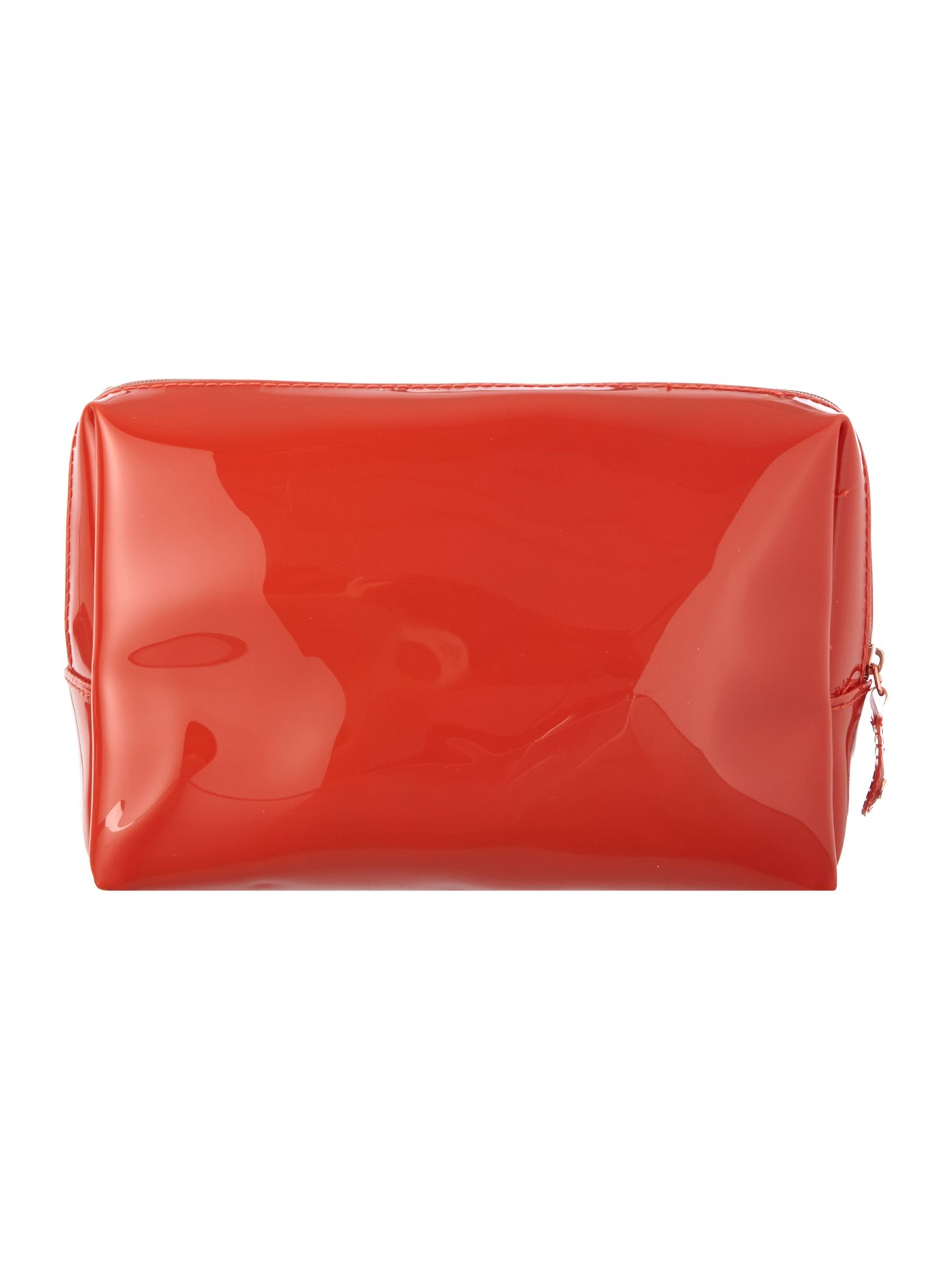 Orange large bow cosmetic bag