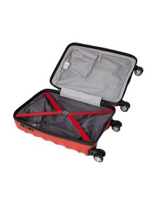 Juno 4 wheel panel red hard cabin suitcase