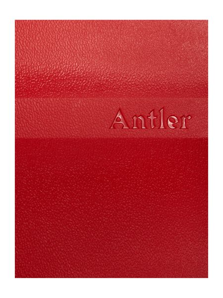 Antler Juno 4 wheel panel red hard cabin suitcase