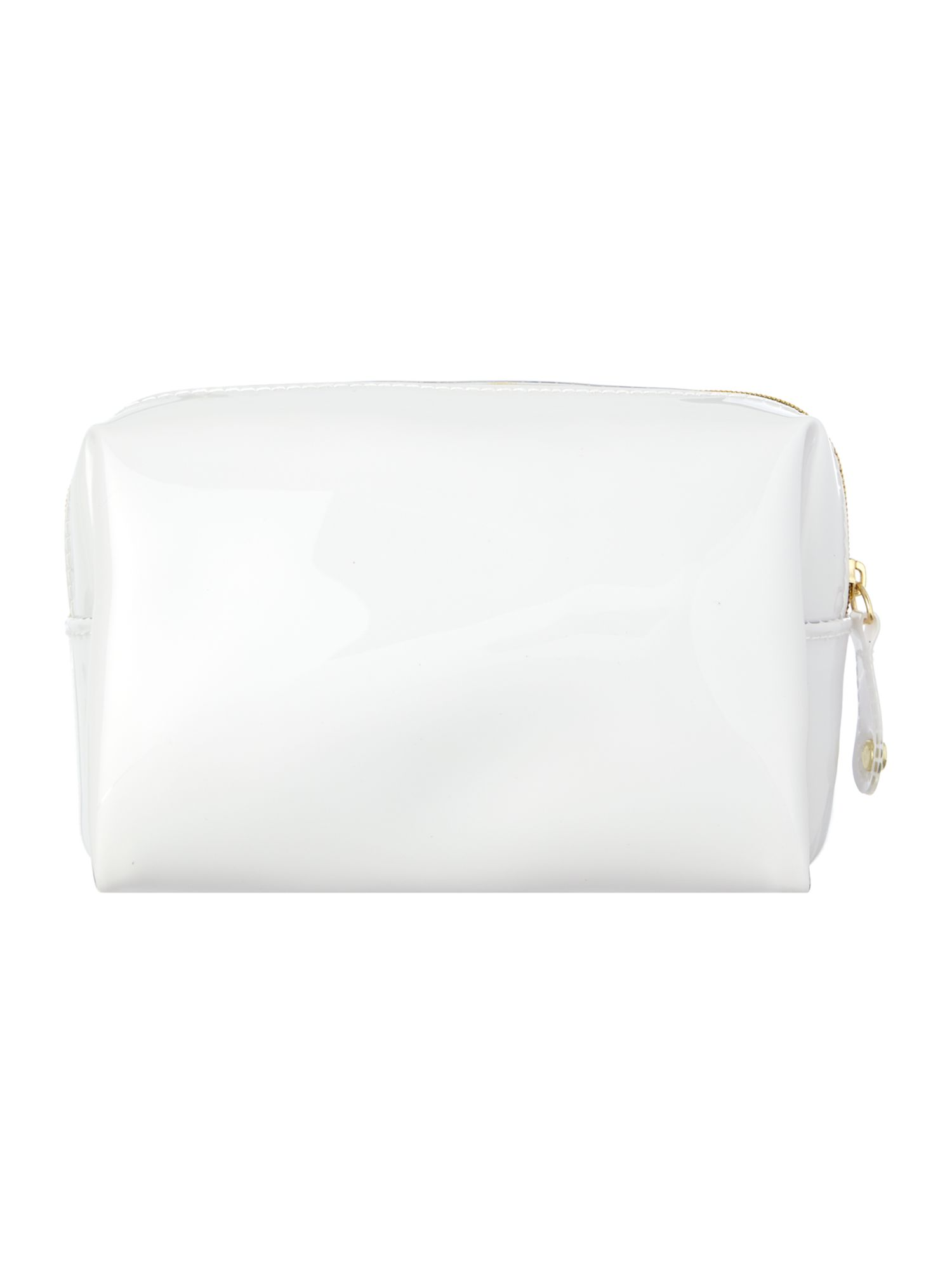White small bow cosmetic bag