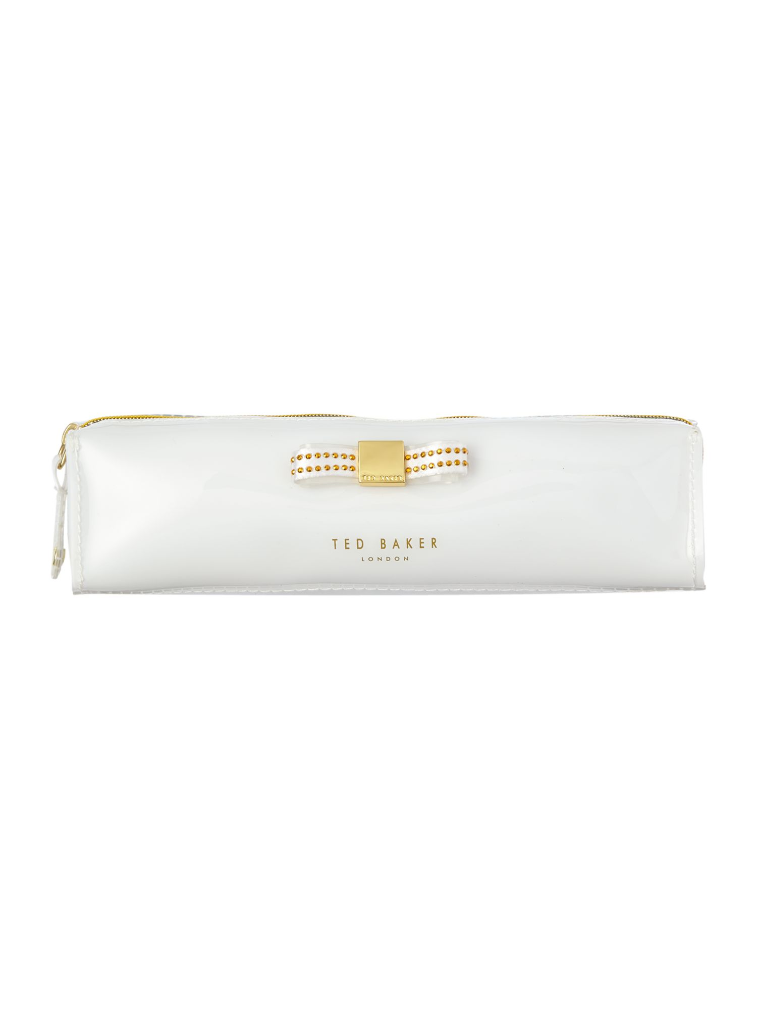 White bow pencil case