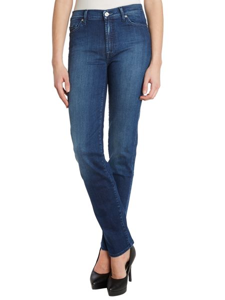 7 For All Mankind Rozie high-rise slim leg jeans in Dark Tribe