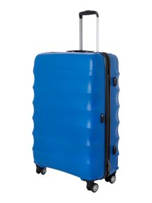 Juno 4 wheel blue hard large rollercase