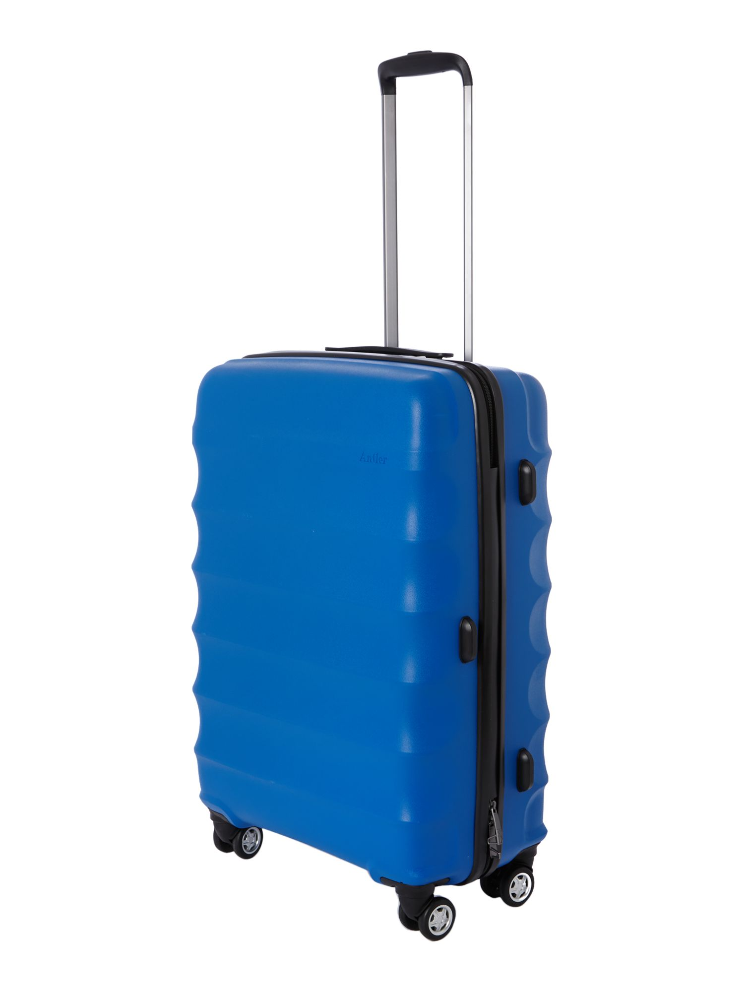 Antler Juno 4 wheel blue hard medium rollercase Blue