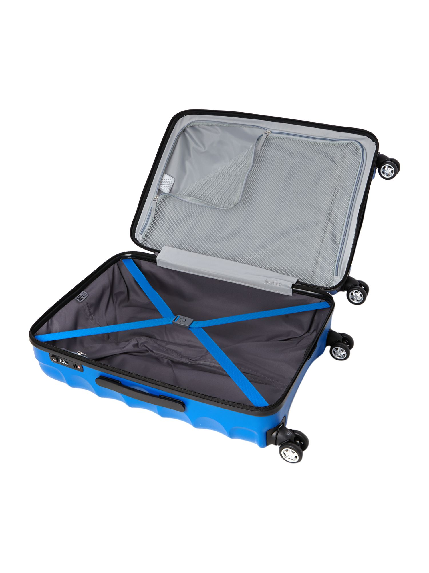 Juno 4 wheel blue hard medium rollercase