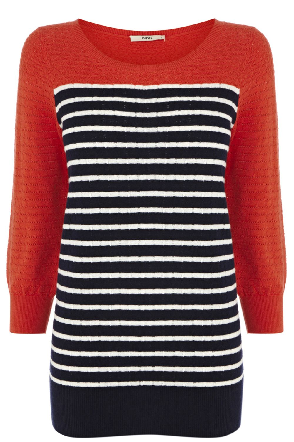 Colour block breton top