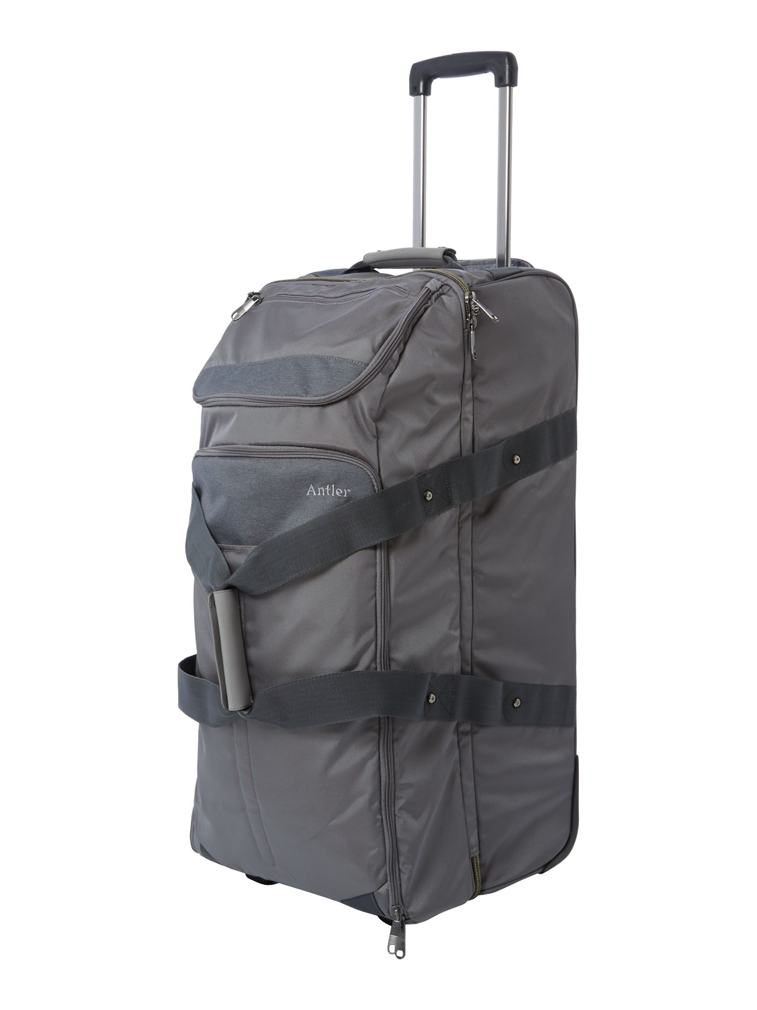 Nix 2 wheel grey soft large trolley duffle