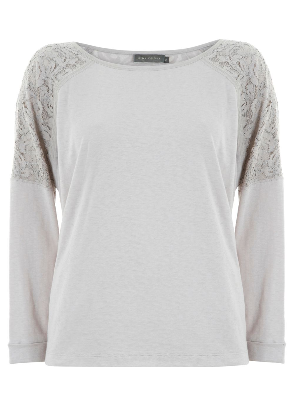 Stone lace back sweat