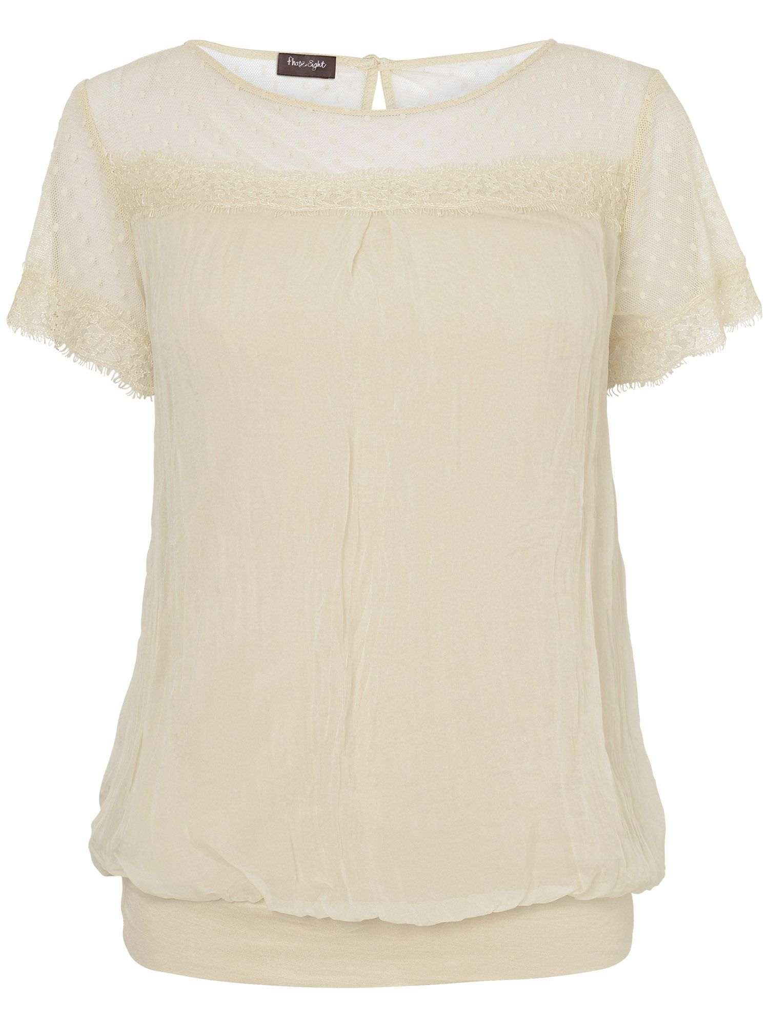 Nel lace and silk blouse