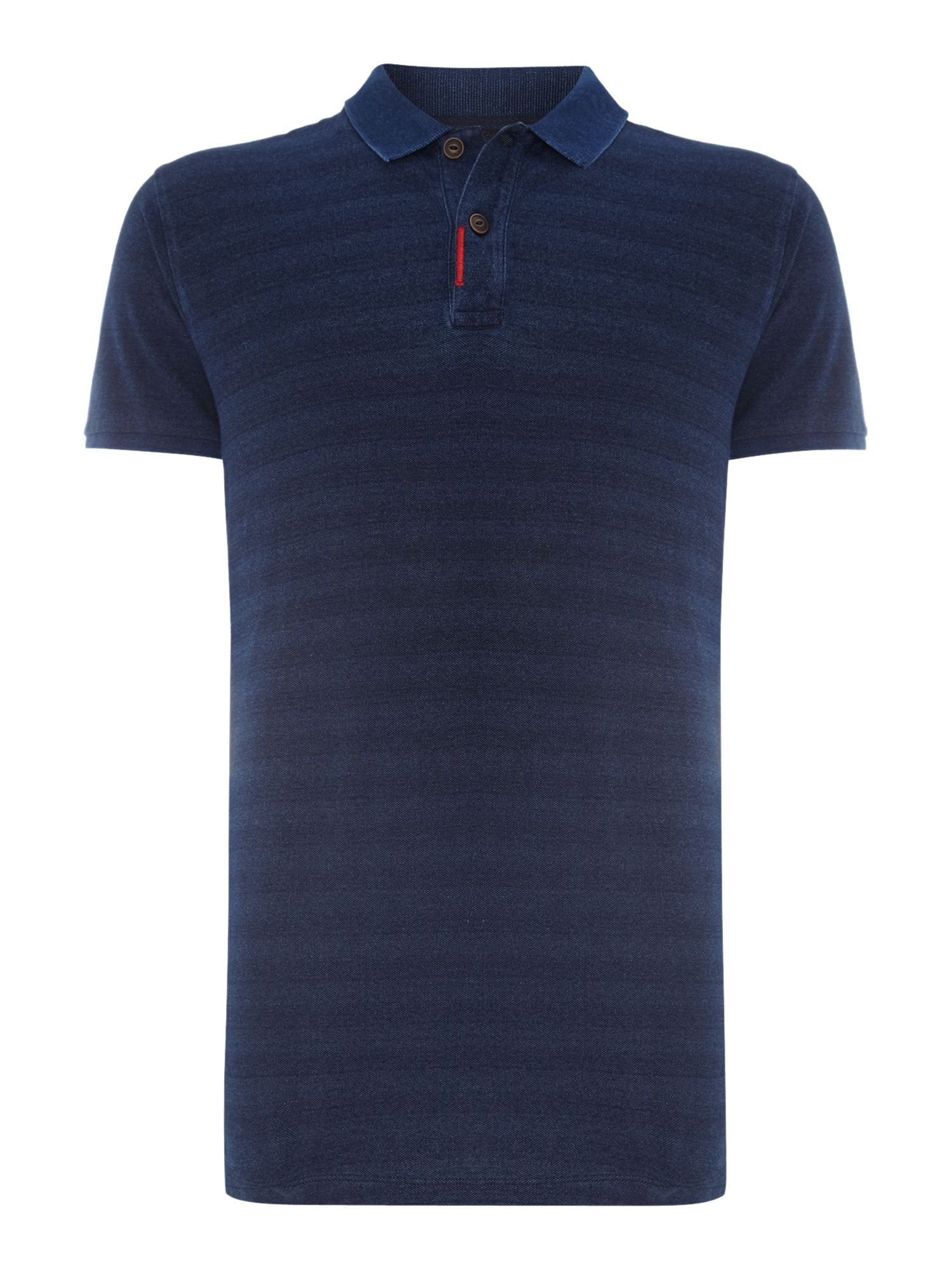 Indigo stripe polo shirt