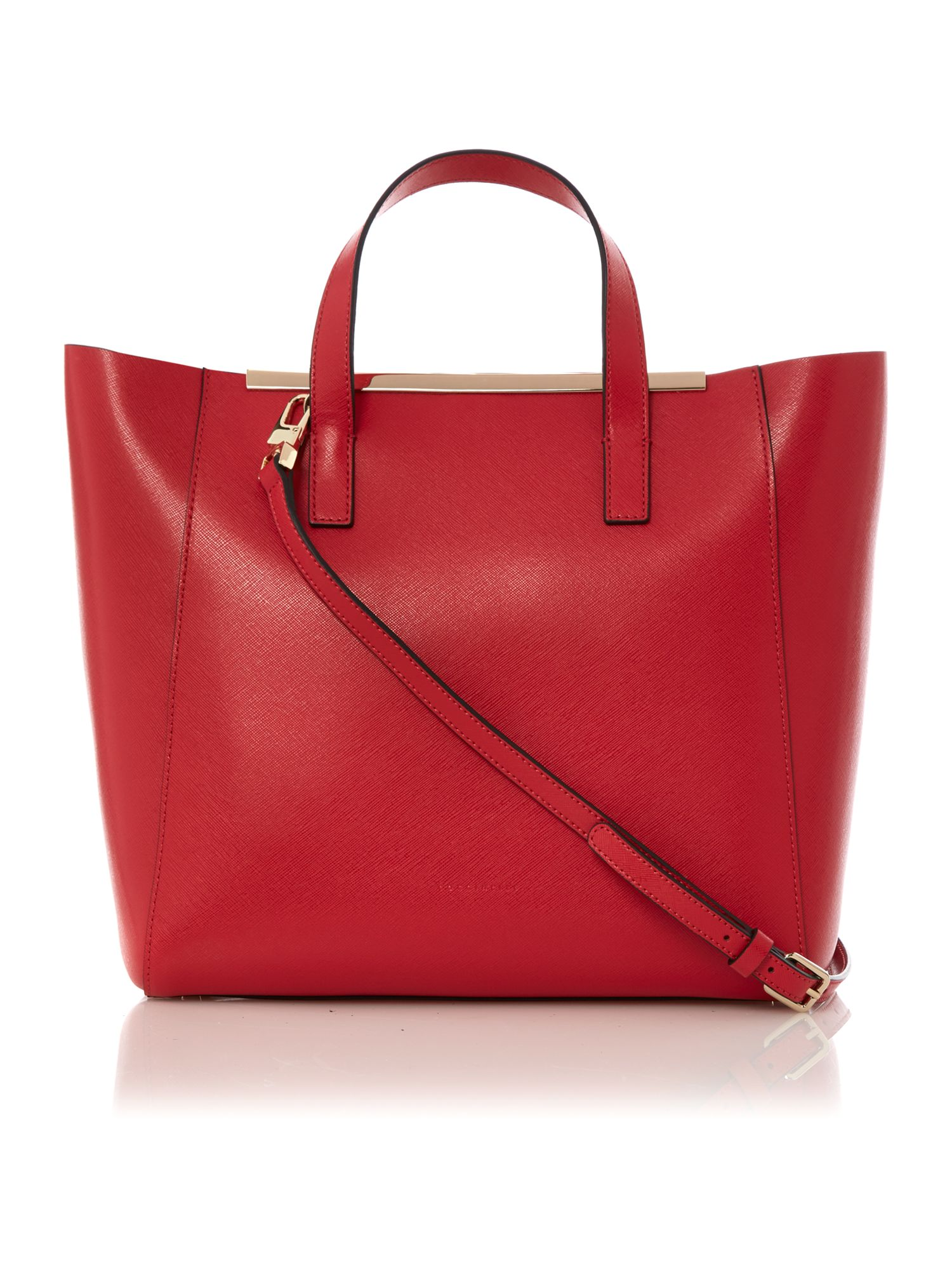 Amy red tote bag
