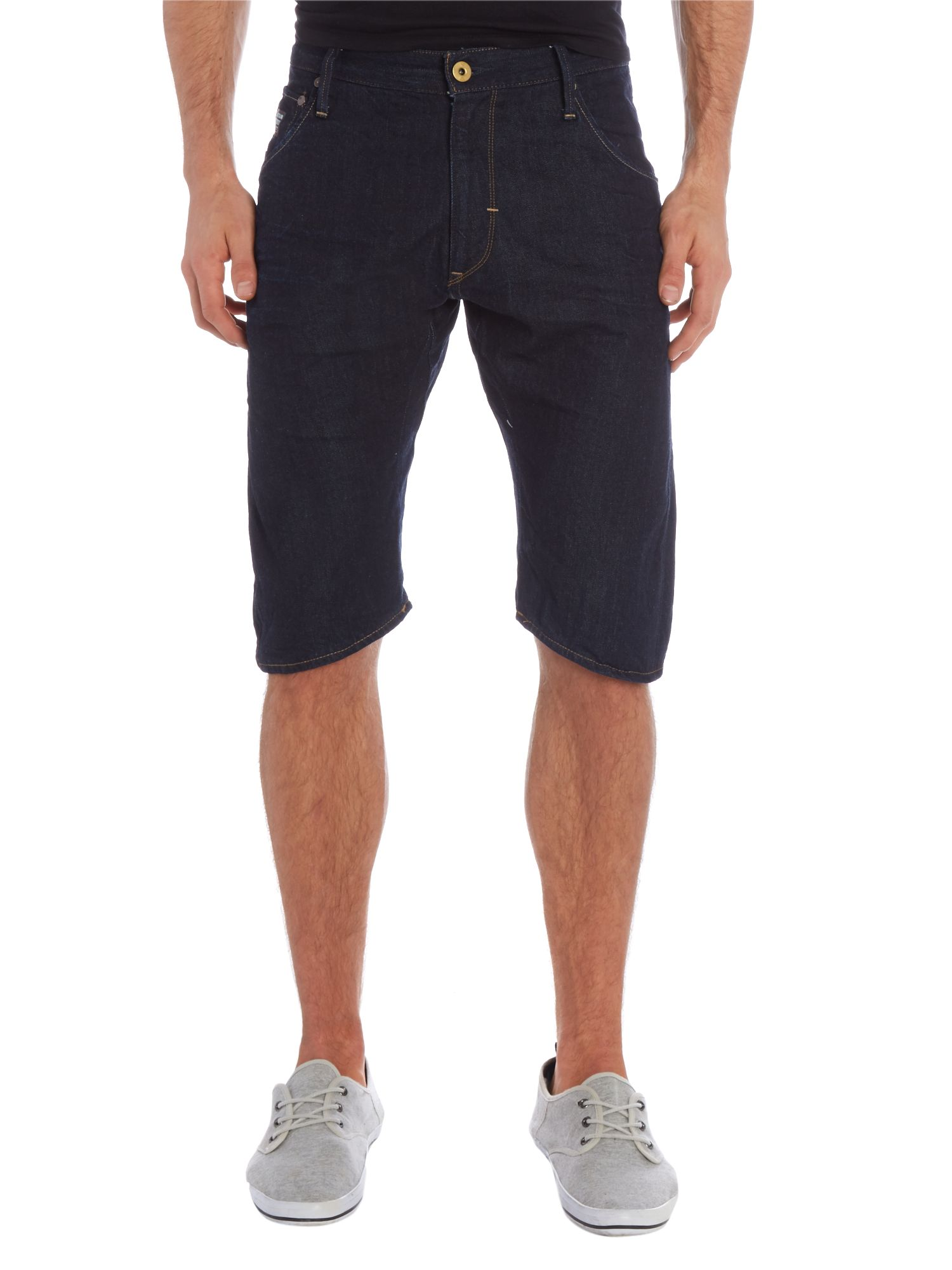 Arc 3D loose tapered denim shorts