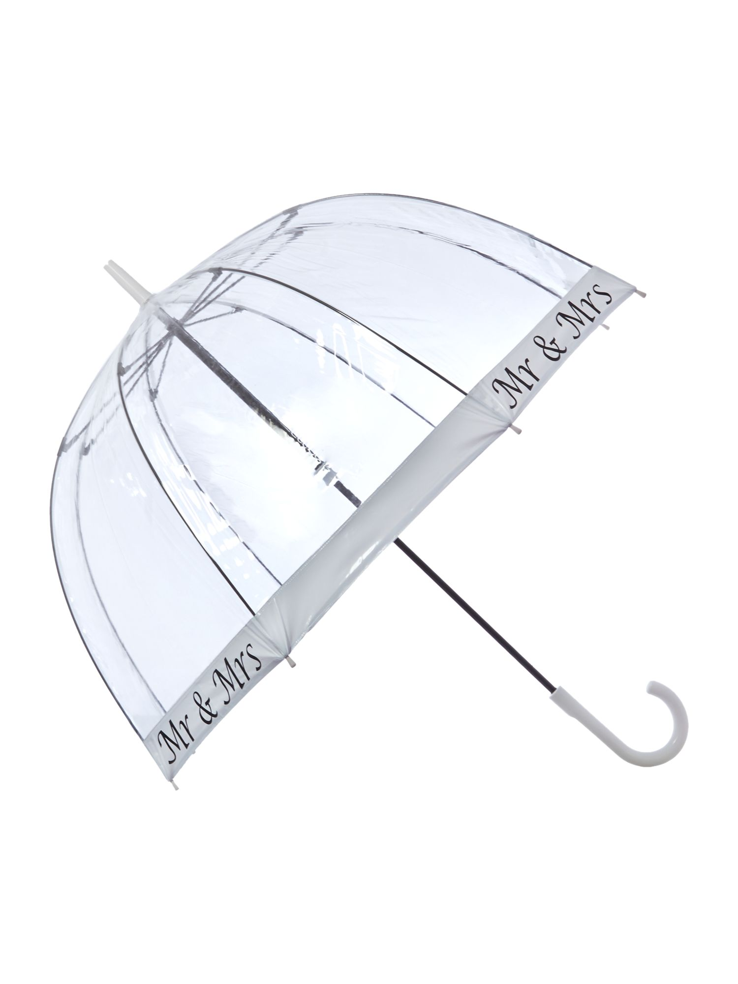 Mr and Mrs birdcage umbrella