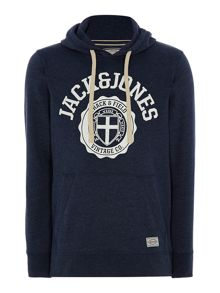 Athletic hooded sweatshirt