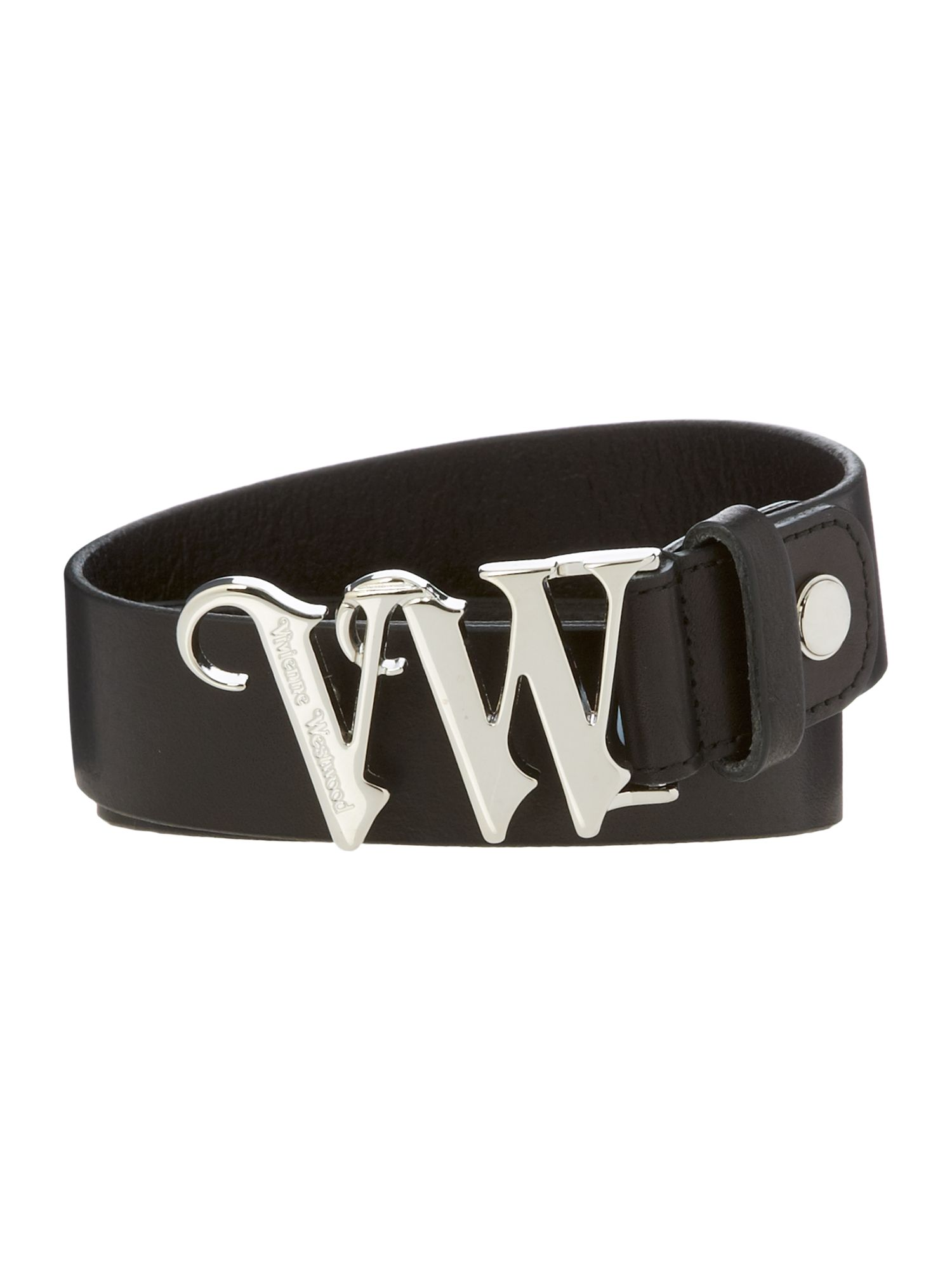 VW logo leather belt