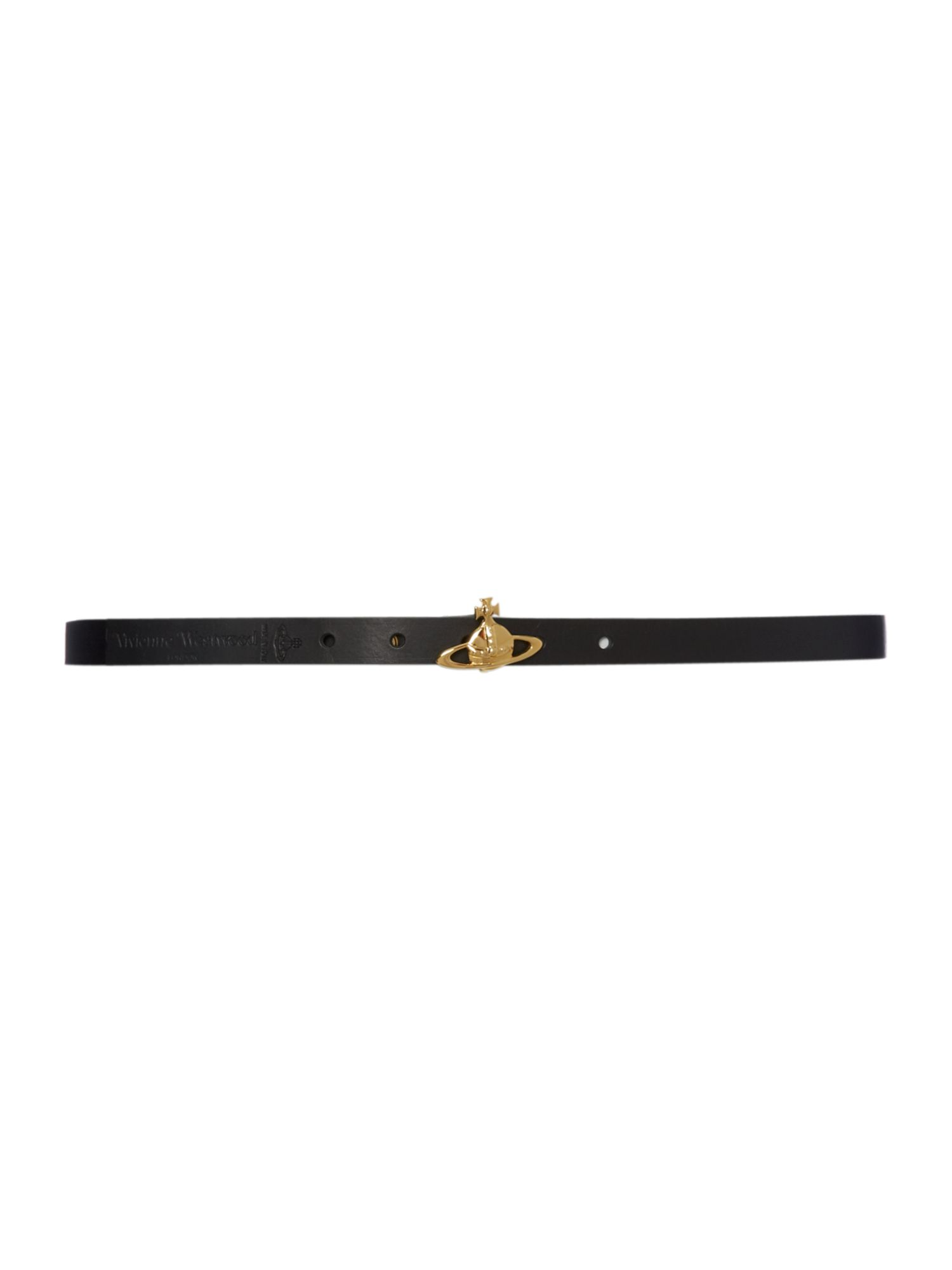 Orb leather belt