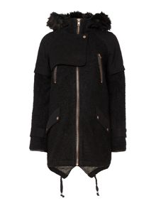 Wool mix parka