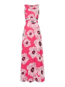 Halter neck printed maxi dress