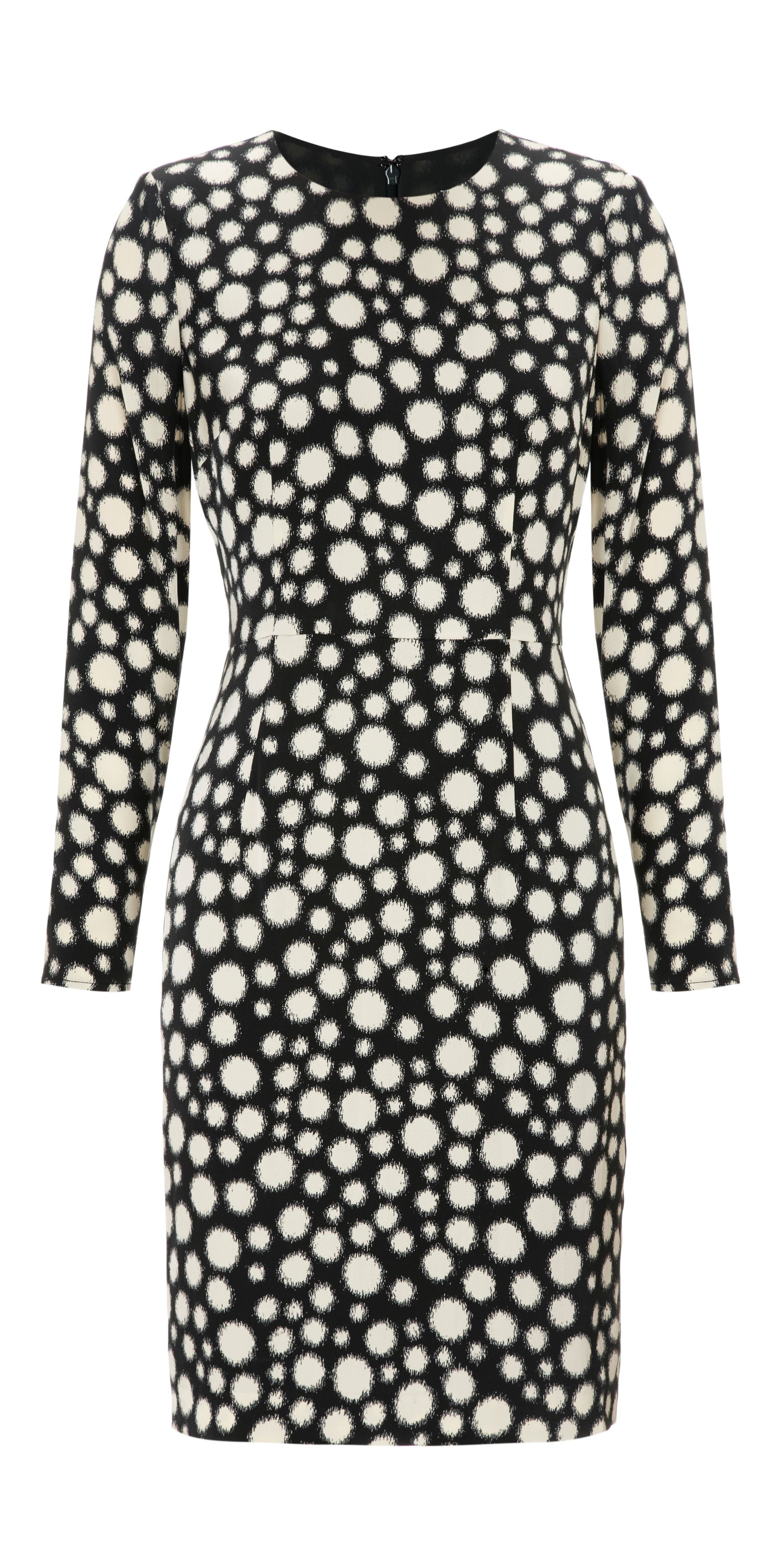Spot Print Bodycon Dress