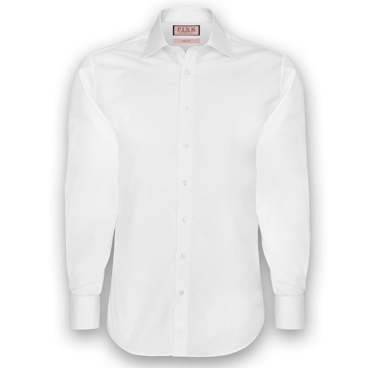 Slim fit button cuff shirt