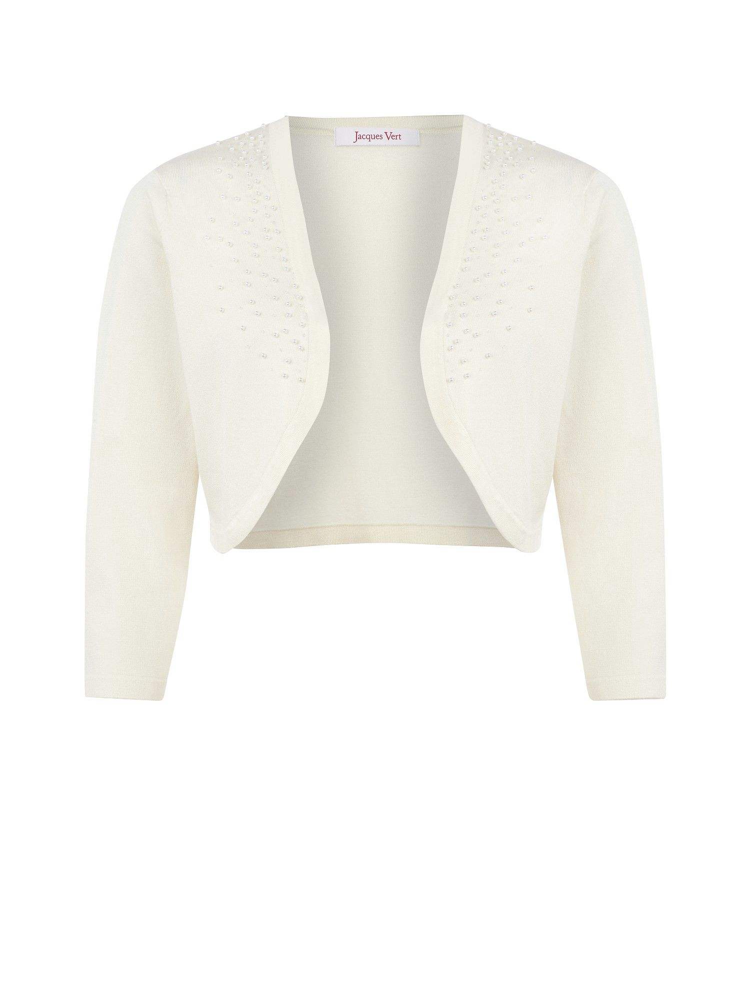 Cream beaded bolero knit