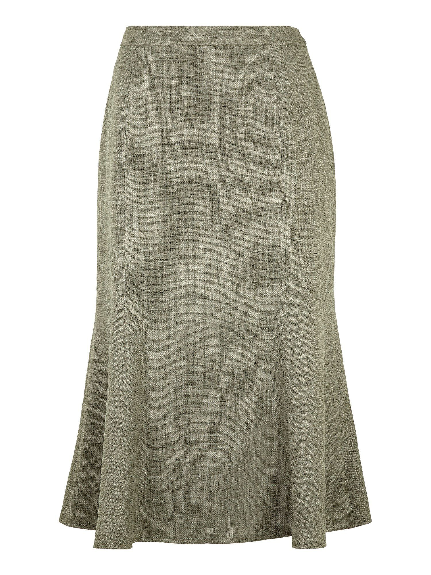 Misty green fit & flare skirt