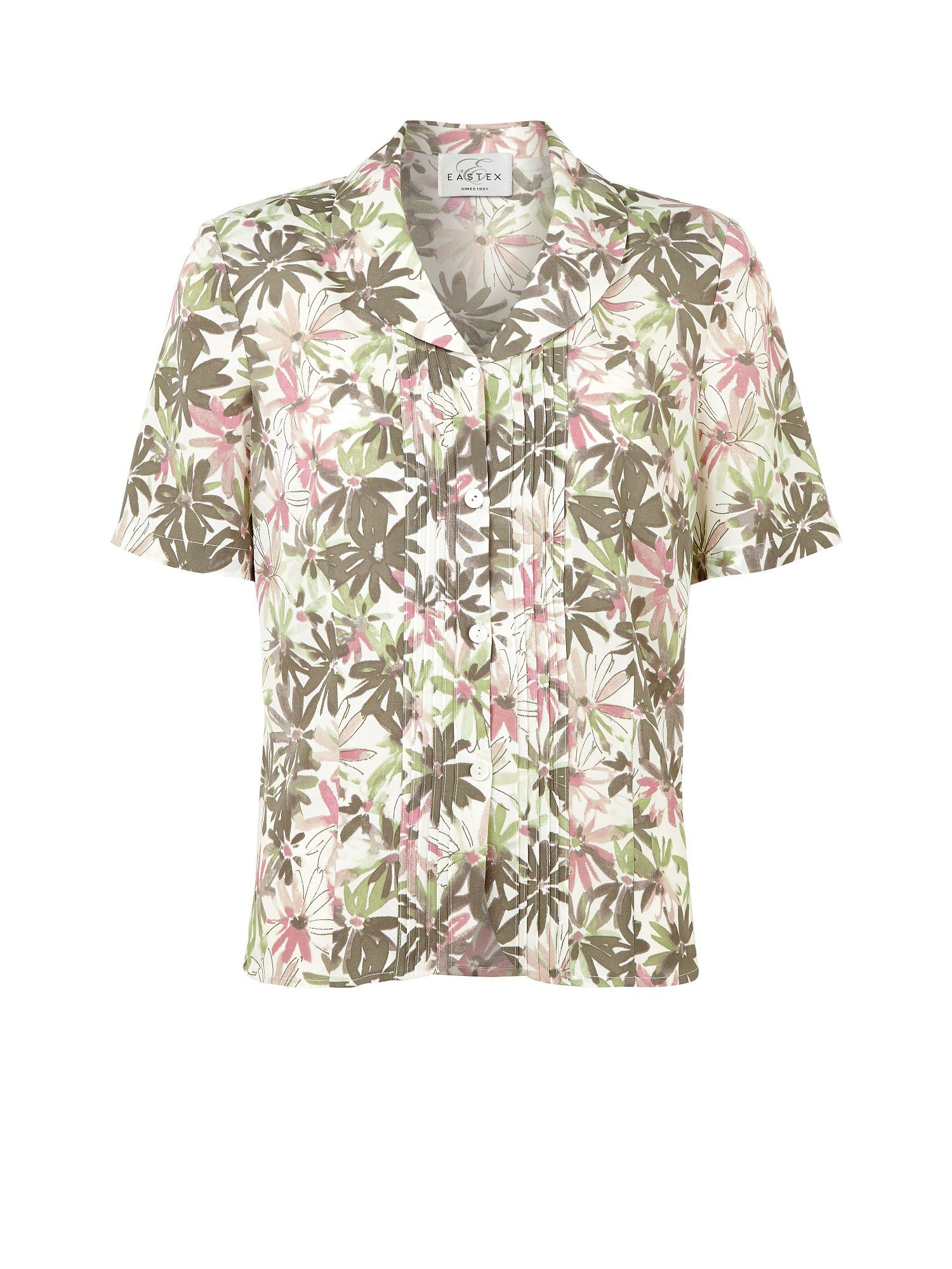 Margherite print floral blouse