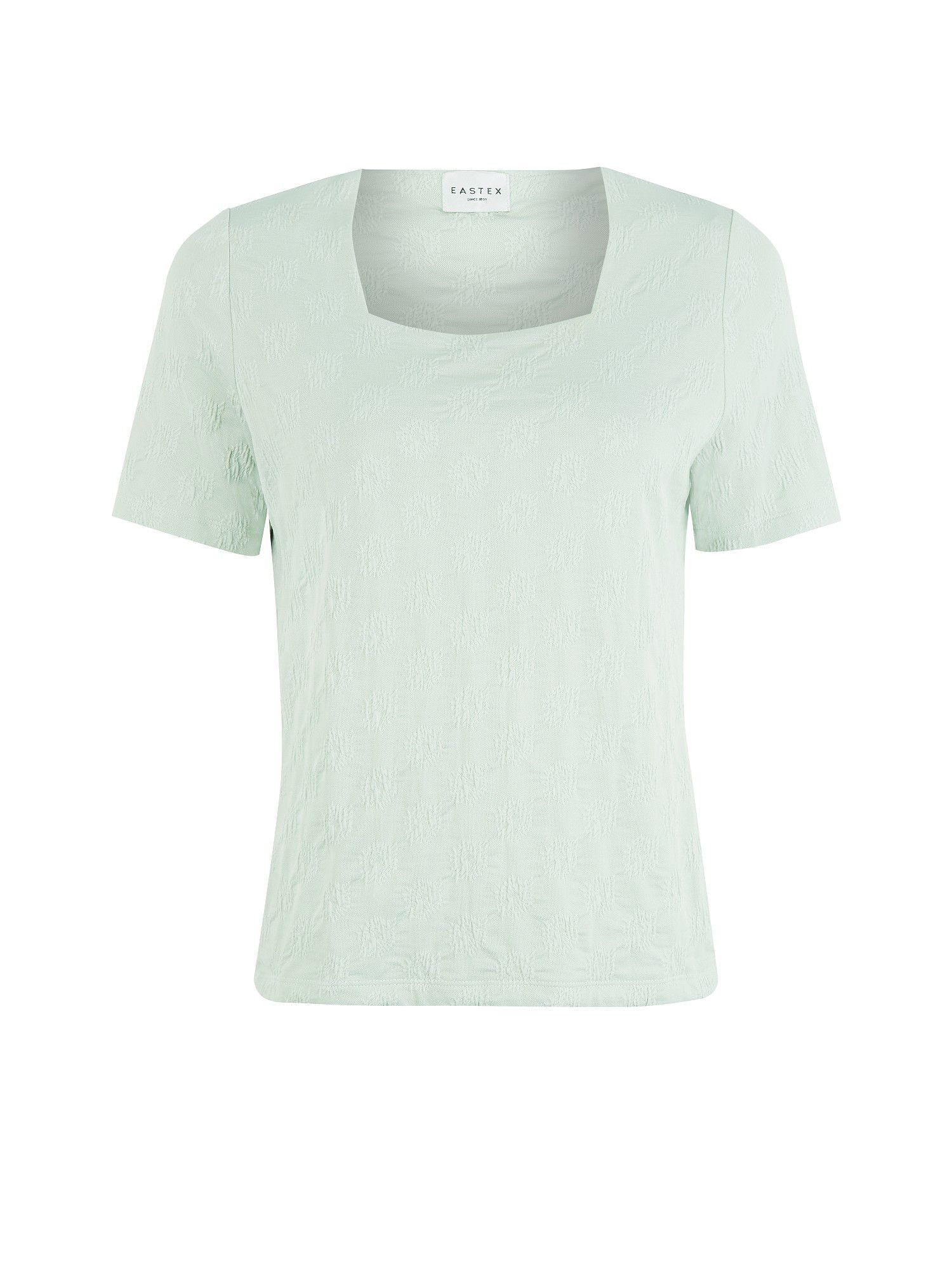 Misty green & stone starburst top