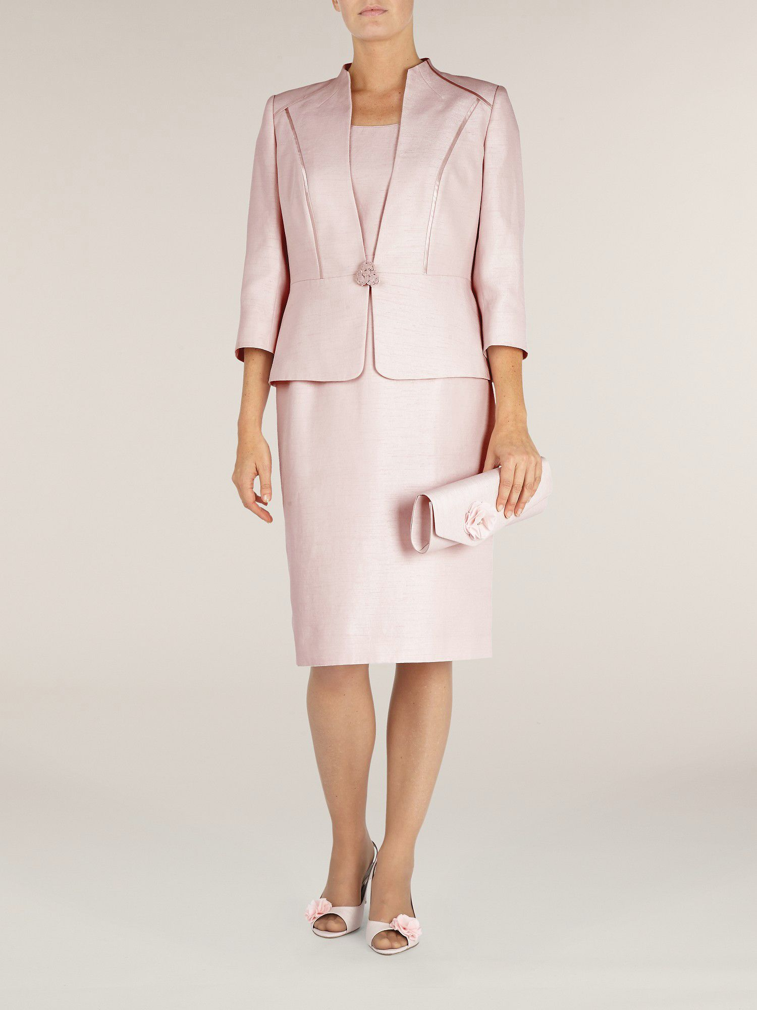 Shell pink occasion jacket