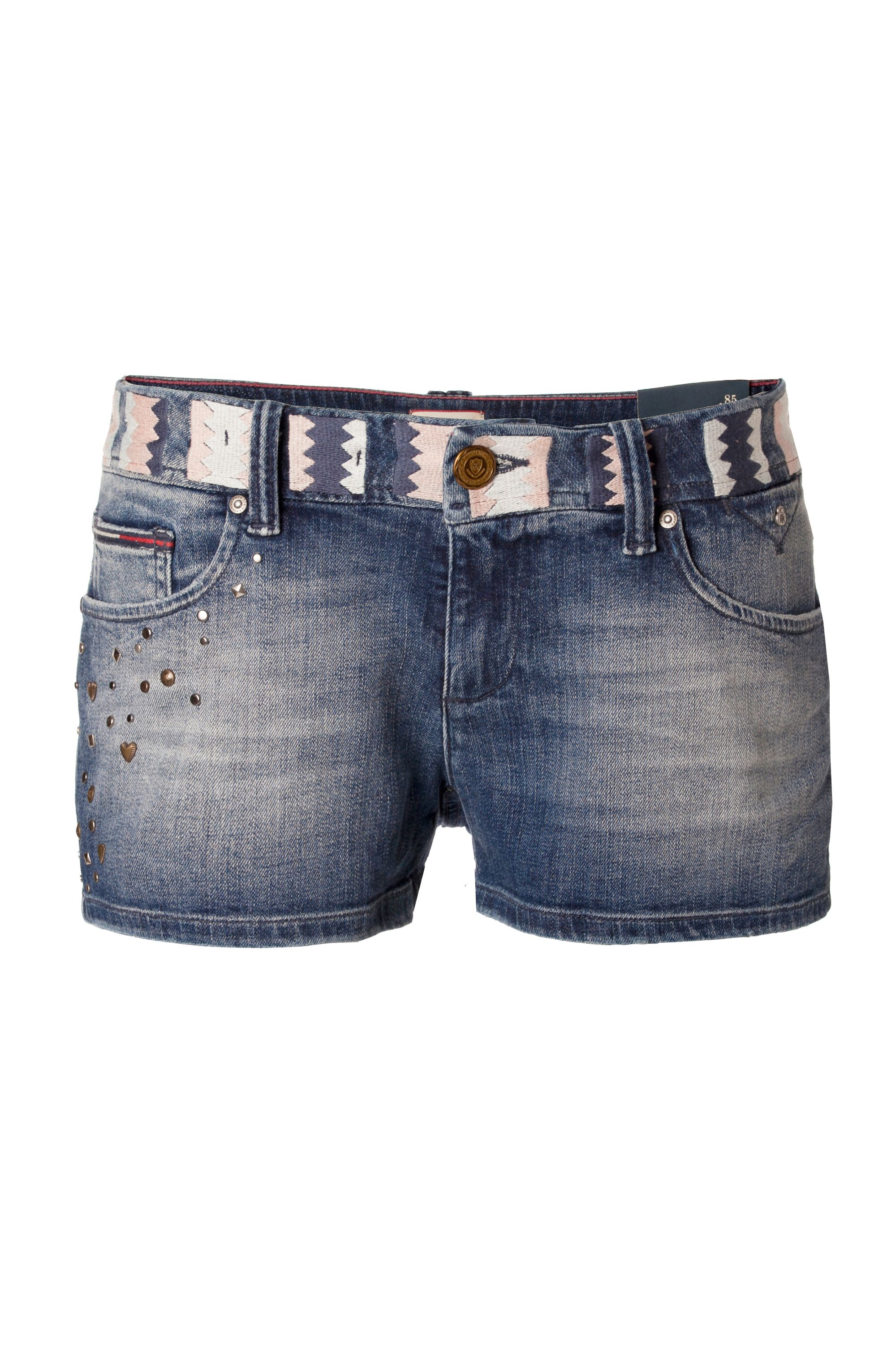 Rosie denim studded shorts