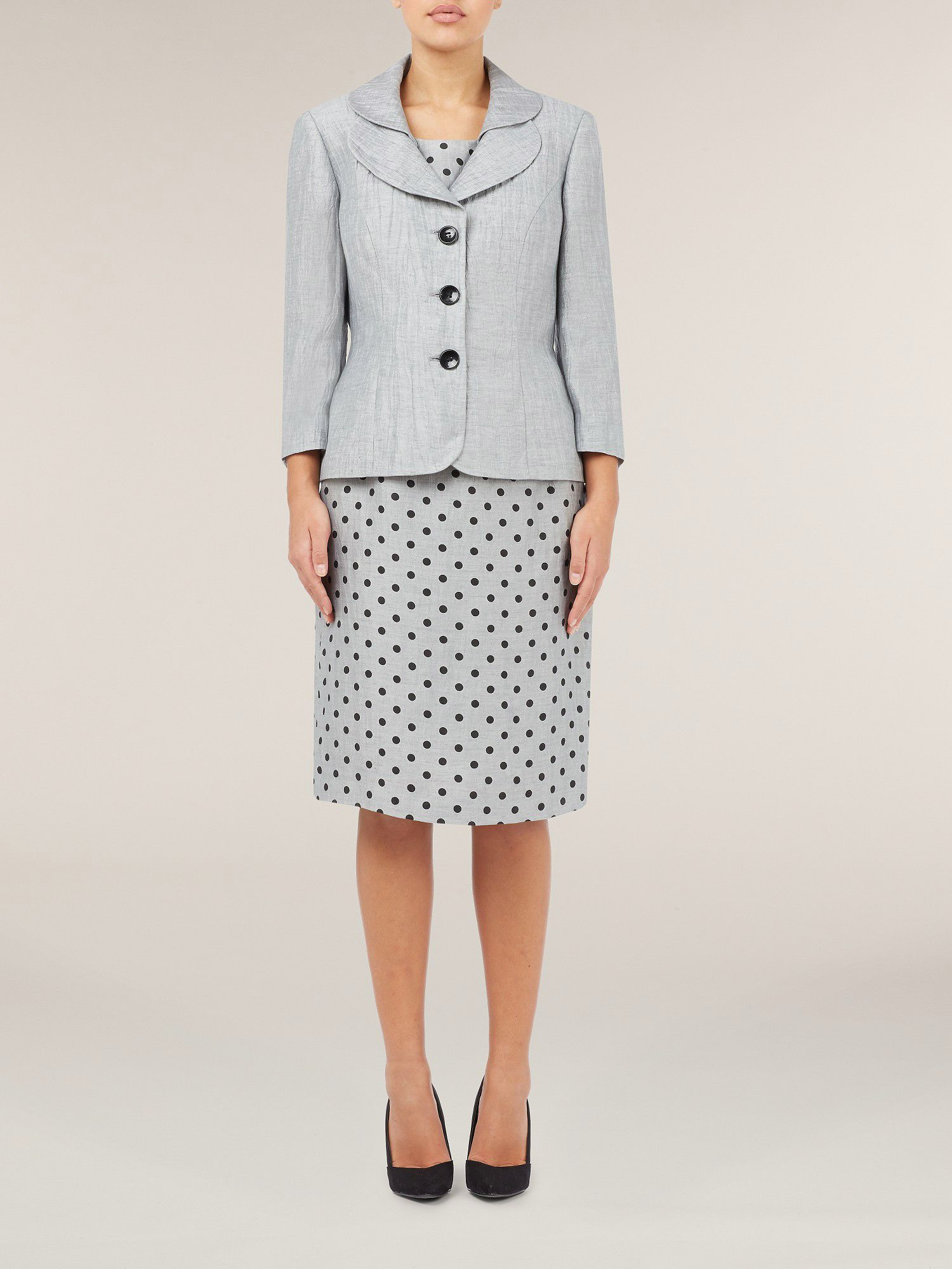 Dove grey crinkle jacket