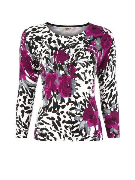 Precis Petite Abstract floral cardigan