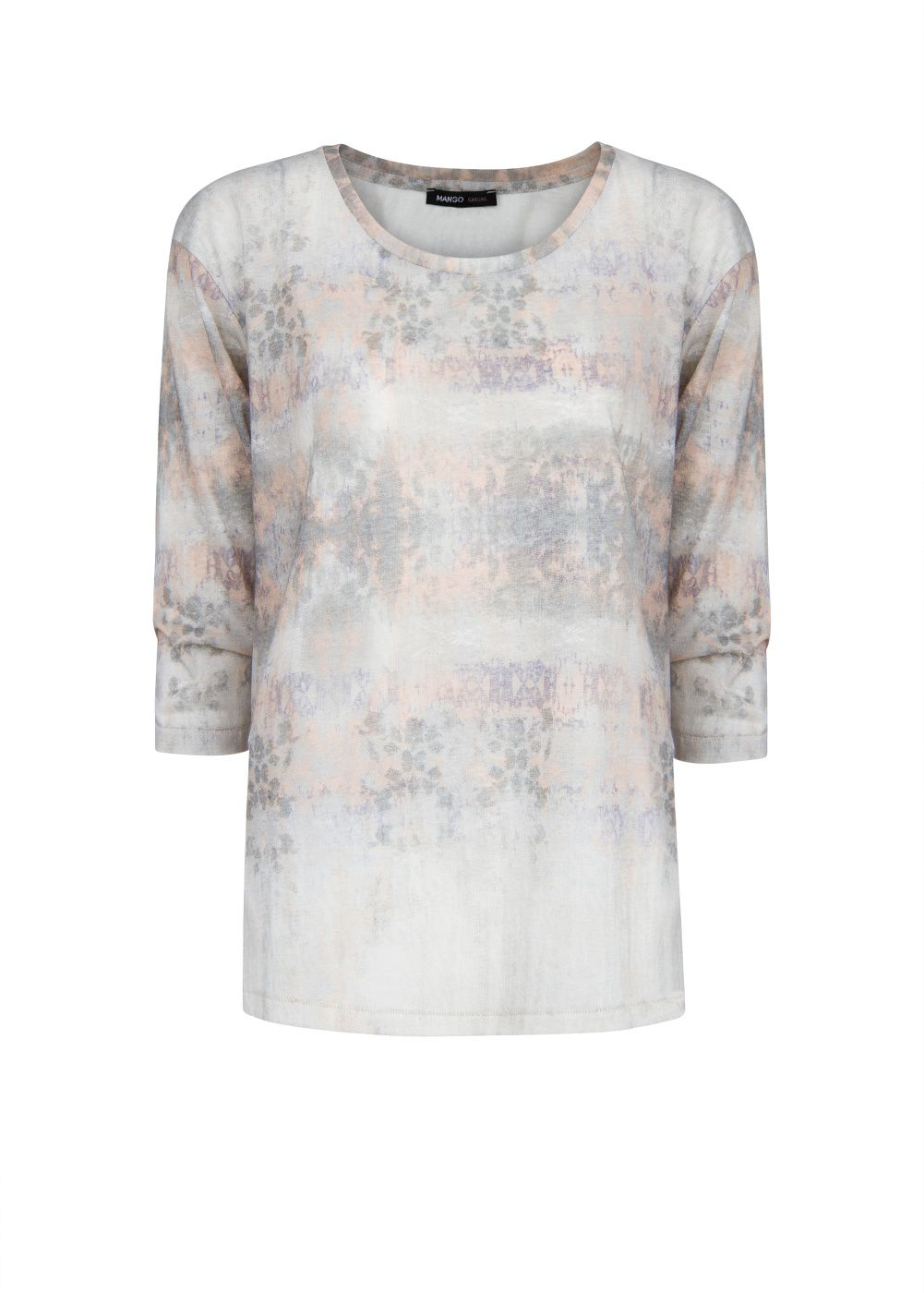Watercolour print t-shirt