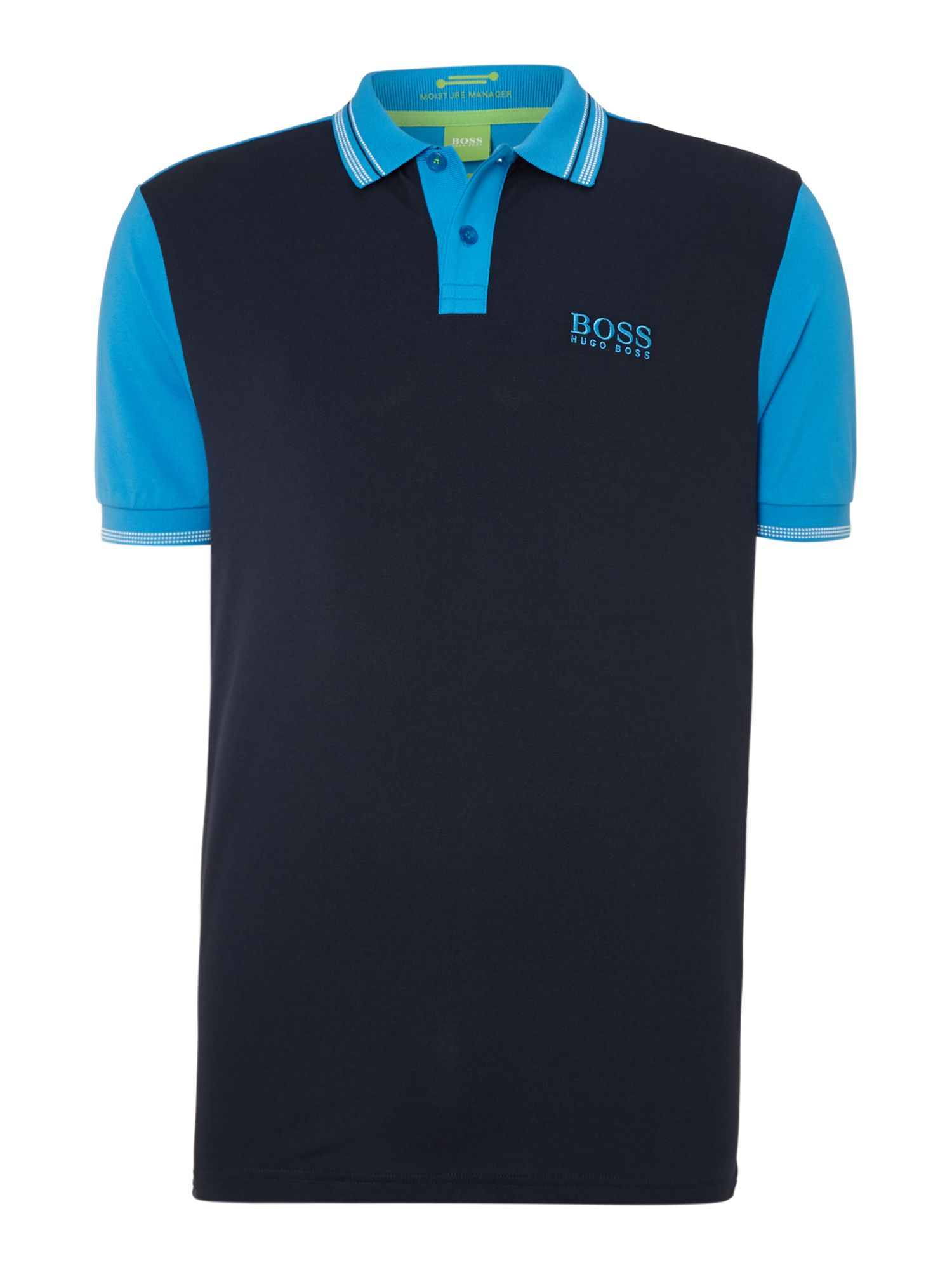 Men&39s Hugo Boss Golf polo with collar detail Navy