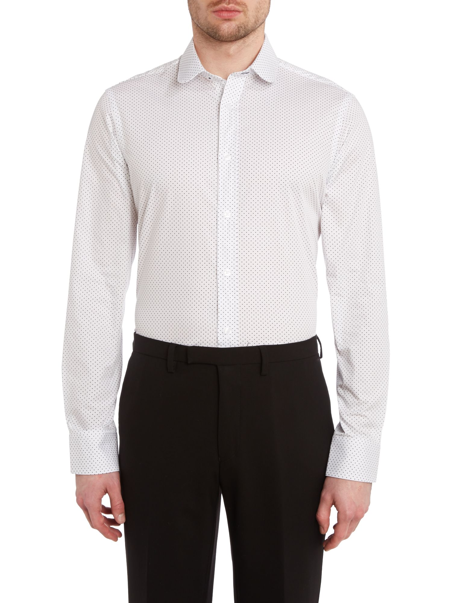Spot fully fitted long sleeve shirt
