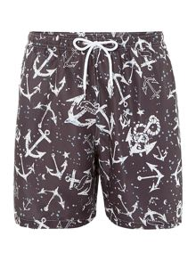 Anchor all over print swim shorts