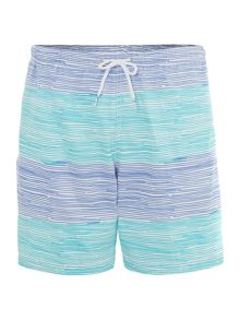 Horizontal stripe swim short