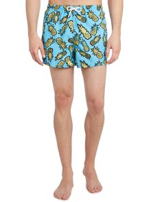 Pineapple all over print swim short