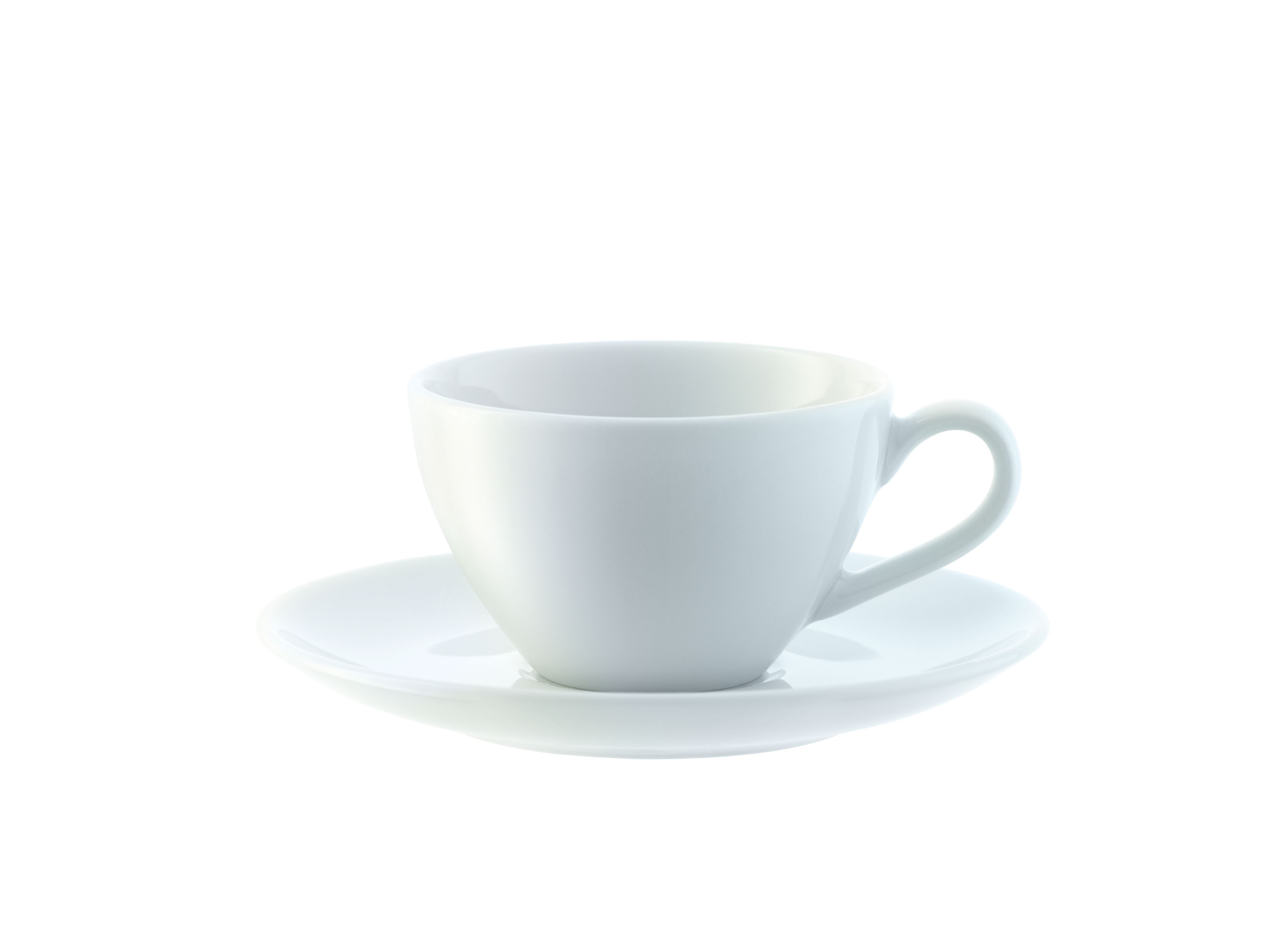 Dine Espresso Cup & Saucer Curved, set of four