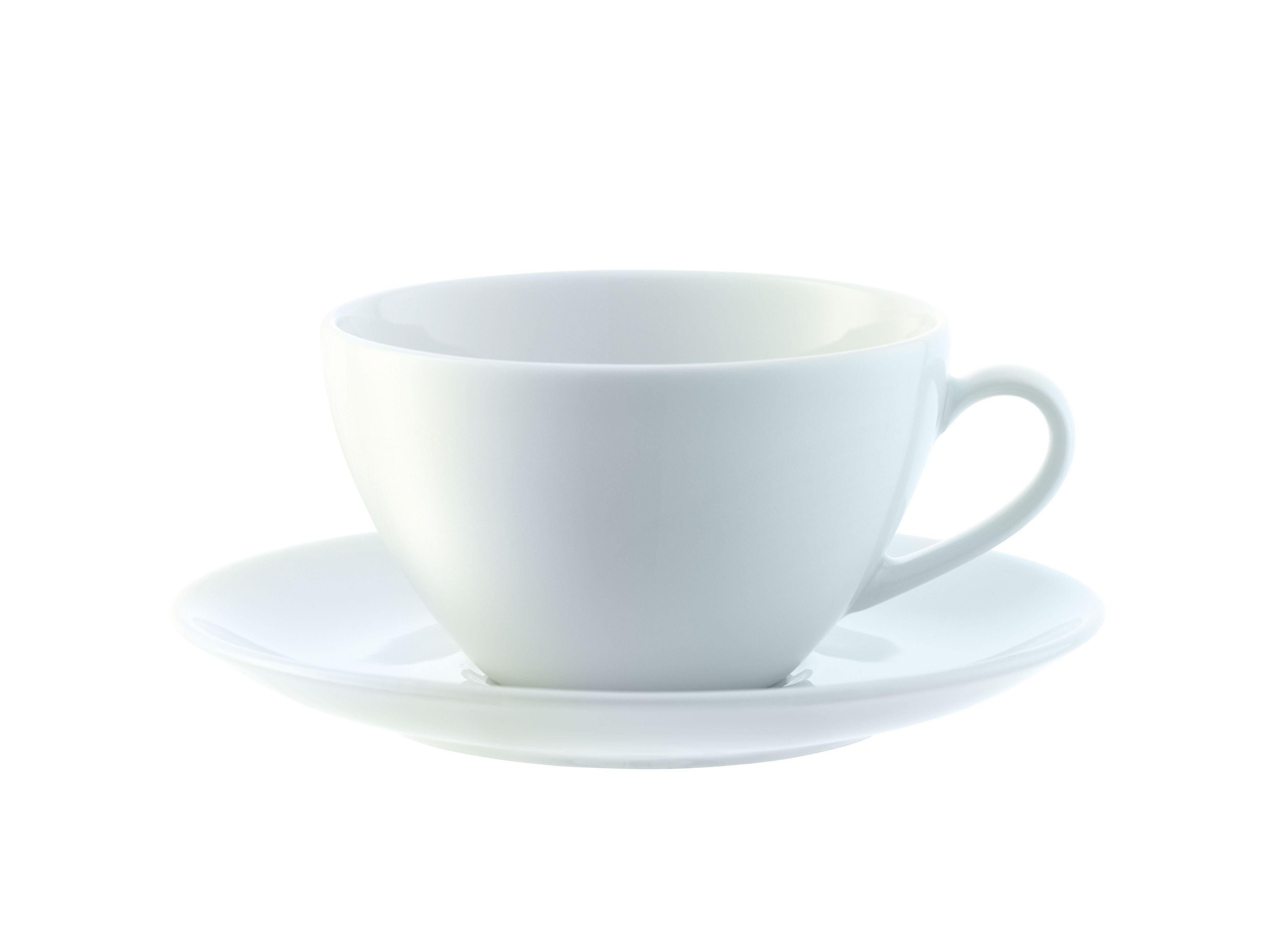 Dine Tea / Coffee Cup & Saucer Curved, set of 4