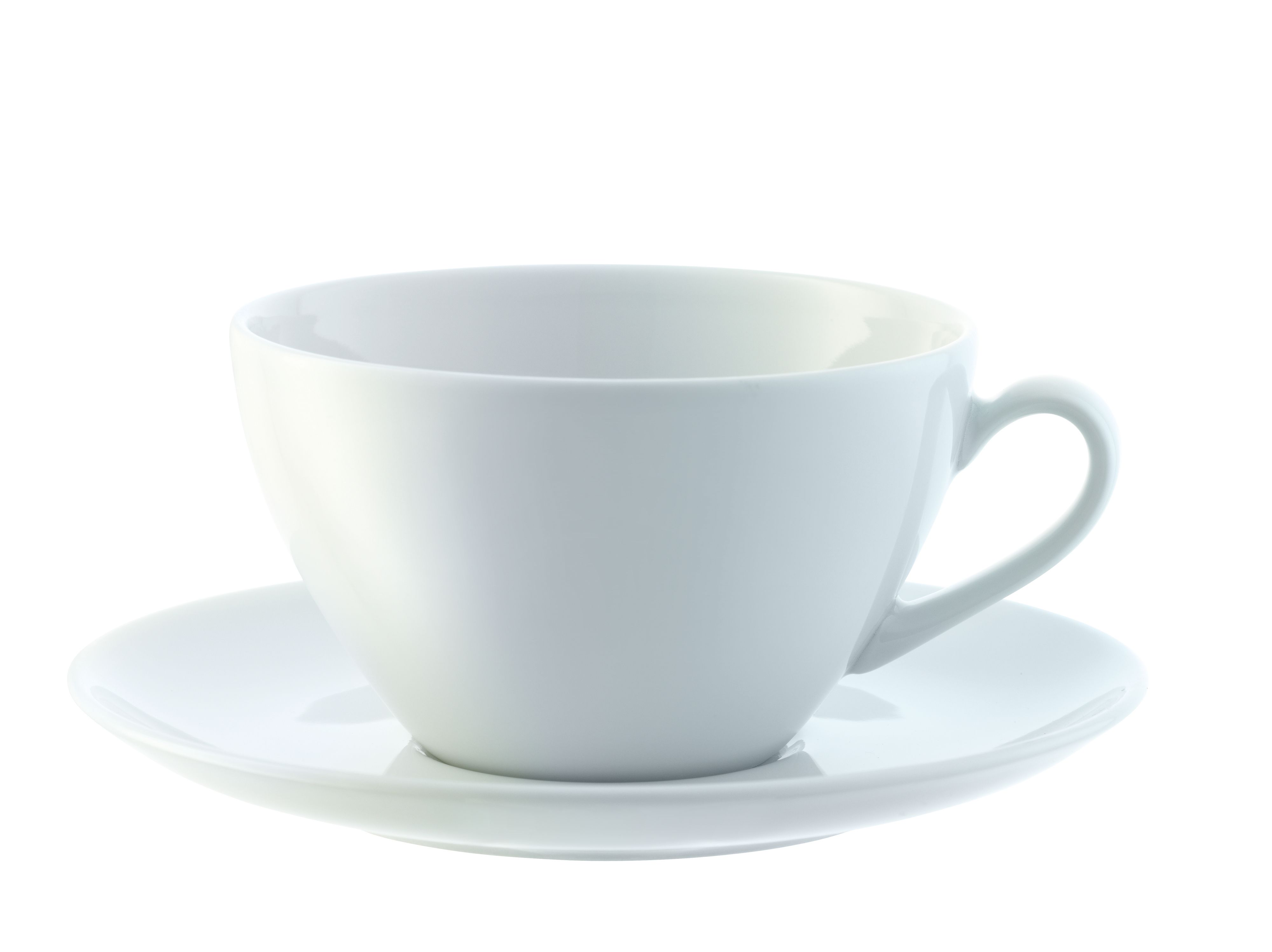 Dine Cappuccino Cup & Saucer Curved, set of 4