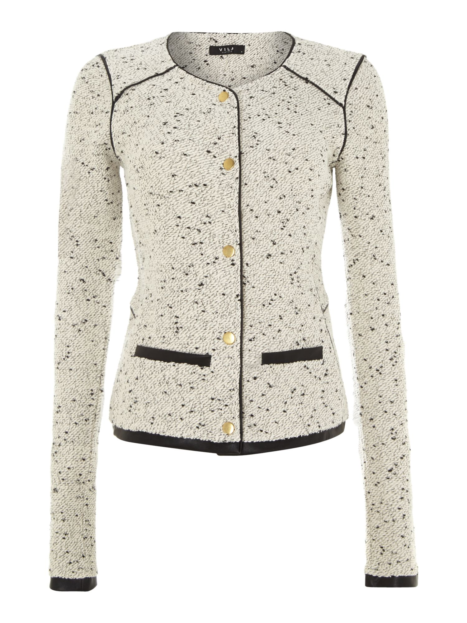 Long sleeved boucle jacket