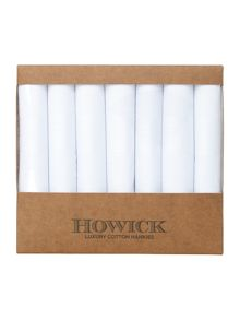 Howick Luxury cotton 7 pack white hankies