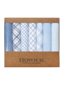 Howick Luxury cotton 7 pack blue hankies