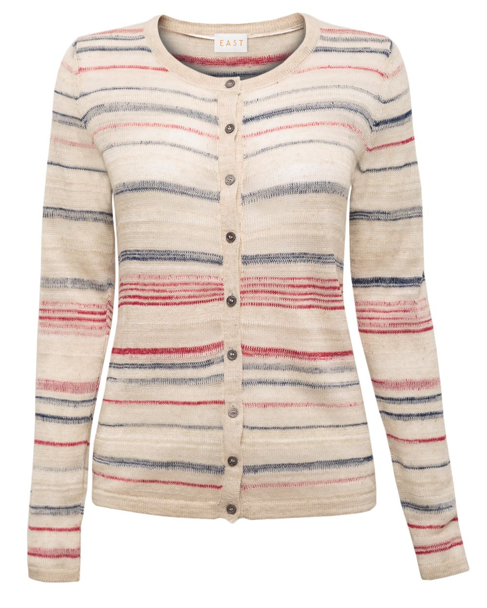 Space dye stripe cardigan