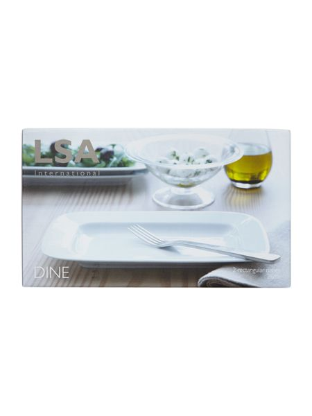 LSA Dine Rectangular Dish, set of 2