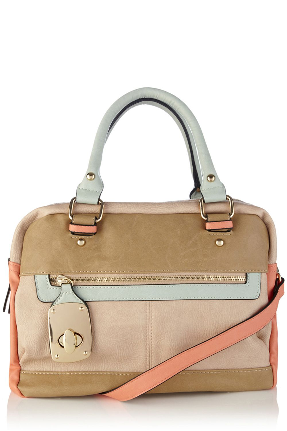 Danielle lock double compartment bag